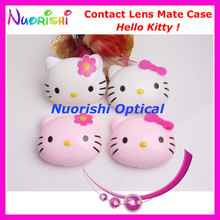 10pcs Hello Kitty design Contact Lens Case with Mirror C529 contact lens mate box Free Shipping(China)