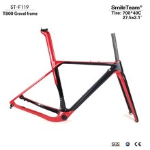 Buy SmileTeam Carbon Gravel Bicycle Frames T800 Carbon Disc Brakes Cyclocross Frame Axle 142/135mm Carbon MTB Road Bike Frameset for $588.00 in AliExpress store