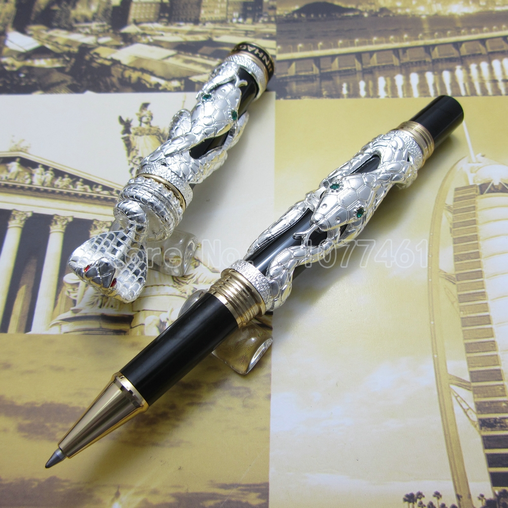 jinhao snake type Roller ball Pen with gift box White 3d-model Cobra White Black Gold Optional JL25R<br>