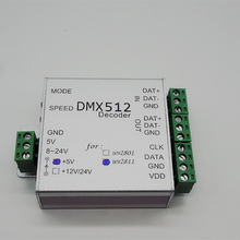 best price 1 pcs/set DMX Controller WS2811 DC5V DMX Pixel LED Module Strip light SPI Converter RGB dmx512 Controller decoder