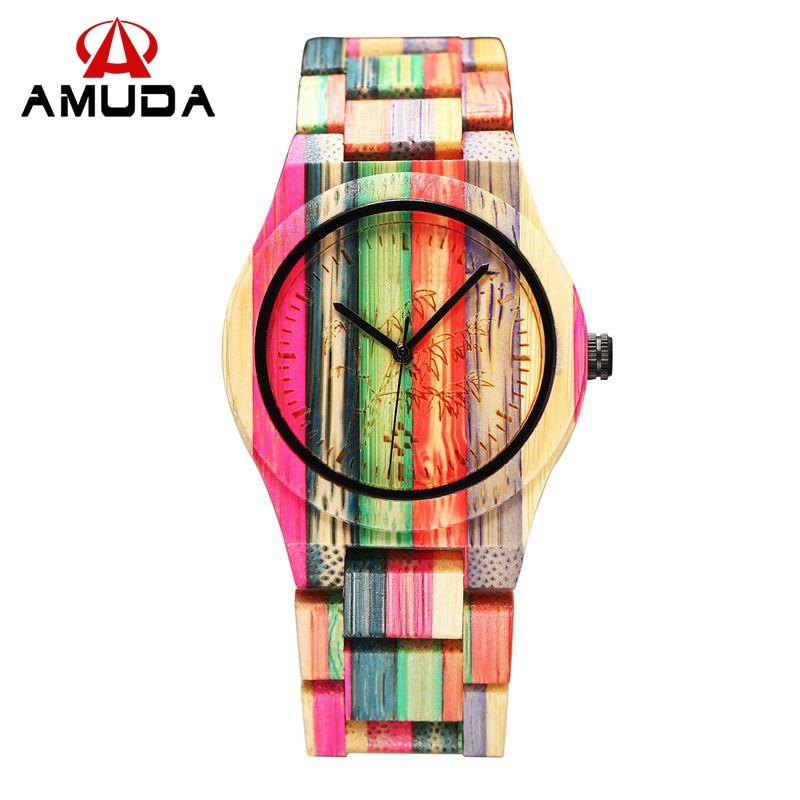 Full Bamboo Watch Women Luxury Brand New Natural Quartz Wooden Bamboo Watch Women Clock Wood Watch With Bamboo Band 2016<br><br>Aliexpress