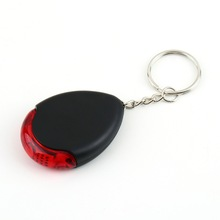 1pcs LED Torch Light whistle Sound Voice Control Locator Chain Keychain Lost Key Finder