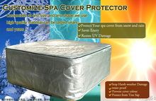 "hot tub cover guard, size91""x 91""x36 and spa cover protector, can customize at any size and shape"