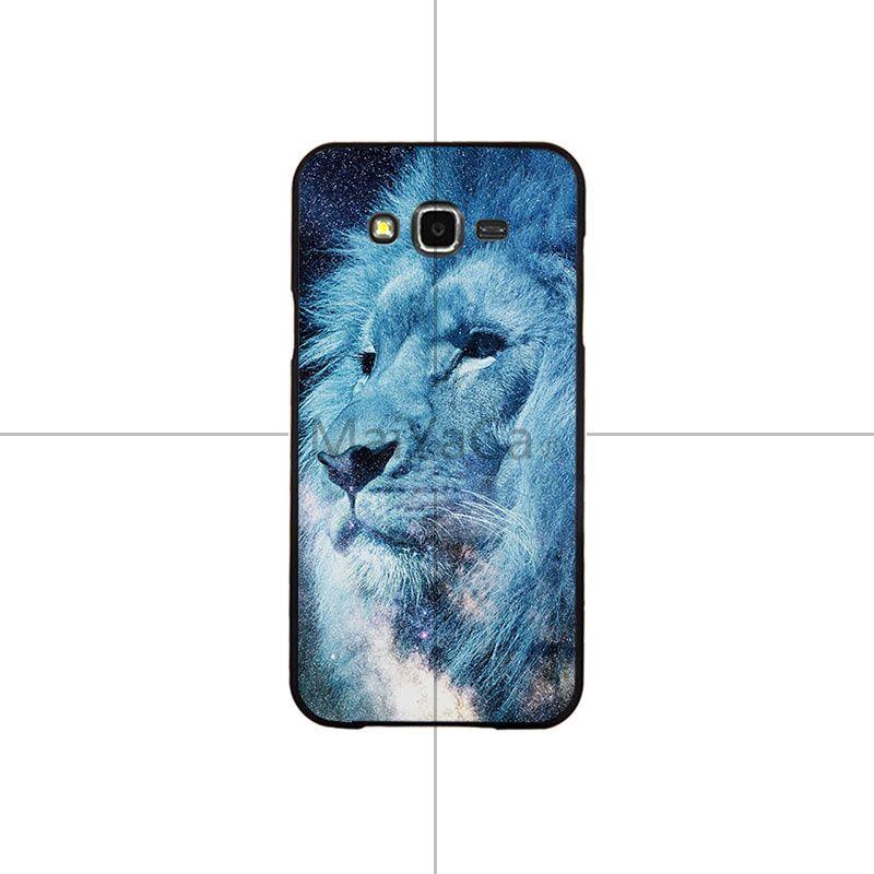 Starry animal lion wolf