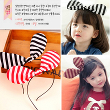New 2016 fashion Baby Child headdress for girl Hair Accessories Cute Striped Headwear Bow Head Band Headband(China)