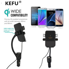 KEFU NEW Universal Pop support  Qi Car Holder Wireless Charger Mobile Phone Navigation Car-charger Car-styling Car-detector