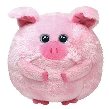 "Ty Beanie Ballz 15"" 38cm Beans The Pig Plush Large Stuffed Animal Collectible Soft Big Eyes Doll Toy"
