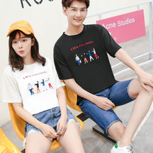 Make summer new women's clothing han edition cultivate one's morality short sleeve T-shirt coat set auger show thin round collar