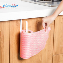 Ouneed Kitchen Paper Hanger Alloy  Under Cabinet Paper Towel Holder Roll Paper Towel Rack Stainless Metal Organizer Silver 1PC