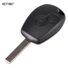 KEYYOU Replacement 2 Button Key Fob Remote Shell Case Uncut Blade For Renault Duster Modus Clio 3 Twingo DACIA Logan Sandero