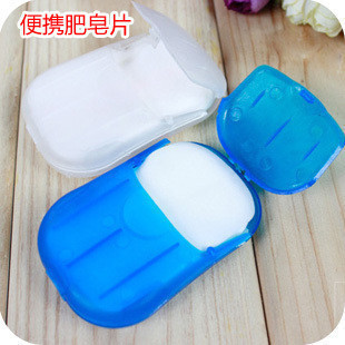 Portable hand-washing soap flakes essential anti-flu - soap paper essential travel home jabones soap base soap M19(China (Mainland))