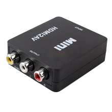Mini HD Video Converter Box HDMI to RCA AV/CVSB L/R Video Adapter HDMI2AV Support NTSC PAL Output HDMI TO AV converter