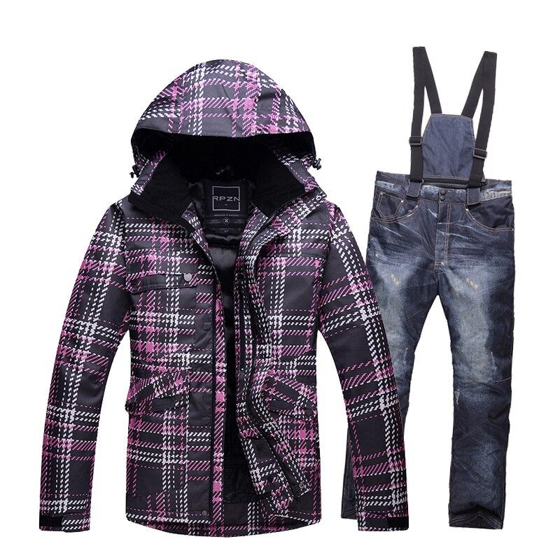 High quality thickening Men Ski Suit Windproof Ski Jacket+Pants Warm Ski Jacket Thicken Clothes Pants Set Solid Men Snowboard <br><br>Aliexpress