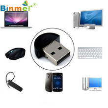 Binmer  New Mini USB Bluetooth Dongle Adapter for Laptop PC Win Xp Win7 8 iPhone 4GS 5GS Oct 20