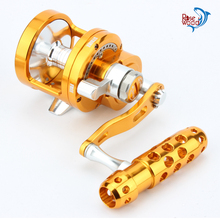 RoseWood Full Metal Saltwater Jigging Reel Left/Right Hand 7+1BB Super Power 30KG Big Game Sea Drum Casting Trolling Reels(China)