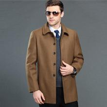 Mens Overcoat High-grade New Fashion Brand-clothing Jacket Men Wool Coat  Pea Coats Men Long Wool & Blends Winter Coat Men
