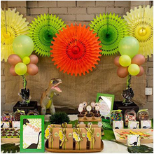 "6pcs 12""(30cm)Colorful Paper Fan Flower Folding For Wedding Scene Shopping Mall Activities New Year Decoration Parties DIY"