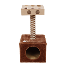 Domestic Delivery Cat Toy Scratching Wood Climbing Tree Mouse Toy Cat Jumping Toy  Climbing Frame Cat Furniture Scratching Post