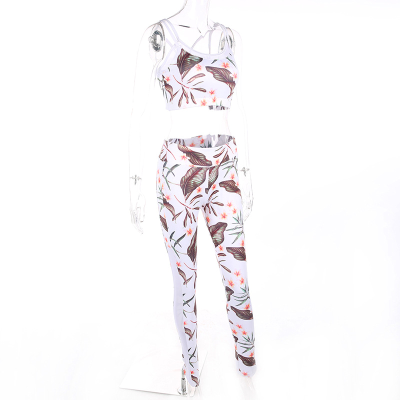 Tracksuit Crop Top And Leggings, New Women's Leaf Clothing, Sexy Short Crop Top Sweatshirt 8