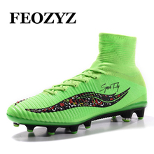 Size 38-46 Superfly V High Ankle Football Boots Fluorescent Green AG Football Shoes Outdoor Traning Soccer Cleats Shoes  Sneaker