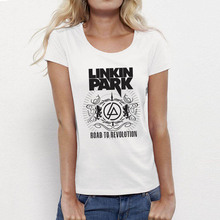 USAprint Fashion Women Tops Rock Linkin Park T Shirts Female Cotton Top Brand Clothing Graphic Tees Girls Clothing Basic Punk(China)
