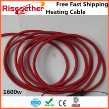Free Fast Shipping Factory Price Heated Cable Double Core For Indoor 1600w Floor Warming System Heating Cable(China)