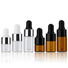 Aihogard 10pcs 1ml/2ml/3ml Mini Empty Makeup Glass Bottle With Glass Dropper Portable Refillable Esstenial Oil Liquid Container(China)