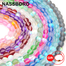 Top Quality Colorful Synthetic Flash Stone Beads Natural Round Loose Labradorite beads Jewelry bracelet making DIY 6/8/10/12MM(China)