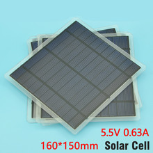 160 * 150mm single crystal solar panels 5.5V 3.5W monocrystalline solar rechargeable battery solar cell conversion rate of 18%