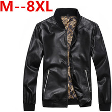 Buy 8XL 6XL Spring Autumn Brand Leather Jacket Men Slim Short Stand Collar Jaqueta Couro Bomber Jacket Faux Leather Moto Coat Suede for $65.30 in AliExpress store