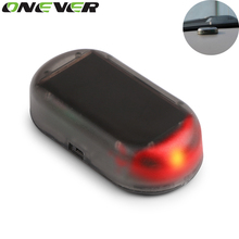 Onever 1PCS Hot Selling Fake Solar Car Alarm Lamp Security System Warning Theft Flash Blinking Red Color