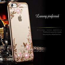 Rhinestone Cases Clear Crystal Bling Gliter Phone cases for iPhone X 8 5 5S SE 6 6S 7 Plus Protector Cover