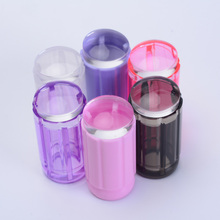 6 colors 2.8cm clear jelly stamper transparent nail stamping stamp scraper polish print transfer nail stamper tools