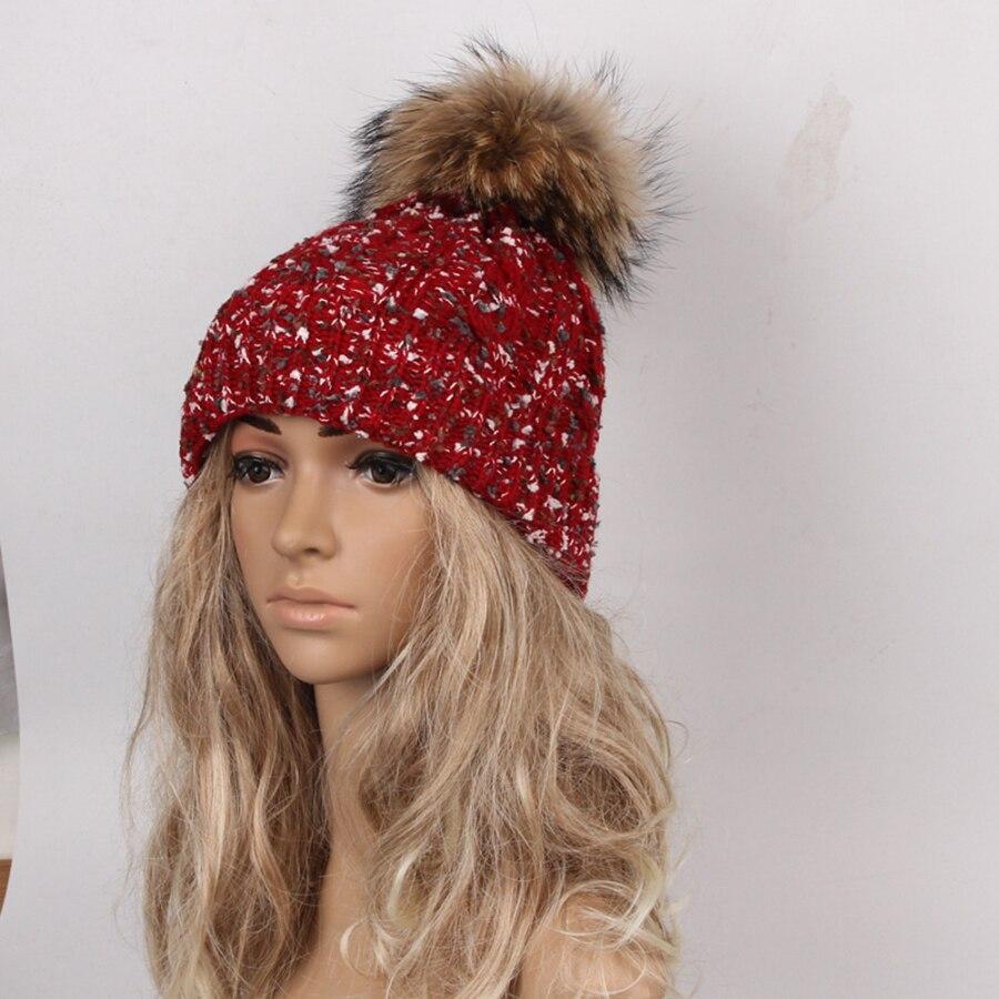 Newly Design Women Men Winter Beanies Artificial Fur Ball Hat Knit Crochet Warm Skullies 160929Îäåæäà è àêñåññóàðû<br><br><br>Aliexpress