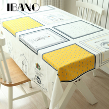 Wholesale Tablecloth Cotton Plain Printed Napkins Tablecloths Home Banquet Decoration Table Covers(China)