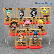 9 Styles Dead or Alive Wanted One Piece anime figure Nami Robin Luffy Zoro Model Toy Gift full set