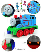 BOHS Metal Alloy Musical  with Flash Light Motorized  Thomas  Leading Actor and Friends  Pullback Model Diecast, 11*6*5cm