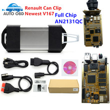 Newest Version V167 PCB Board for Renault Can Clip V167 AN2131QC Full Chip A+ NEC Relaies OBD2 Diagnostic Scanner