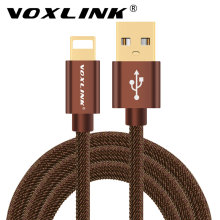VOXLINK Cowboy Braided Fast Charge & data Cable Mobile Phone USB Charger Cable For iphone 7 6 6S plus 5 5S ipad mini ipad air(China)