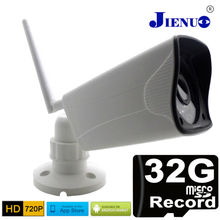 ip camera outdoor 720p wireless Built Micro SD 32G record mini cctv security system wifi ipcam surveillance infrared waterproof(China)