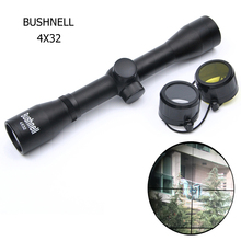 Bushnell 4x32 Hunting Scopes Rifle Scope Optics Sight Riflescope for Air Guns Reflex Optic Sight Caza With 11/20mm Rail Mount