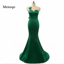 2017 Real Photos Mermaid Sleeveless Sheer Back Applique Beaded Back Bow Robe de soiree Real Sample Green prom dresses for women