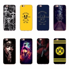 Case Cover Skin For Apple iPhone 7 8 6 6s 5s SE Cool Giraffe Lion TUPAC SHAKUR QUIDDITCH TEAM Design Soft Silicone Covers Coques(China)