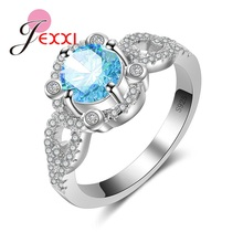 JEXXI New Arrival Classic Women Silver Ring with 925 Stamp Elegance Type Design for Women Monther's Day Collection Jewelry(China)