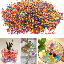 100 pcs Pearl Shaped Crystal Soil Water Beads Mud Grow Magic Jelly Balls Home Decor Aqua Soil Wholesales hydrogel(China)