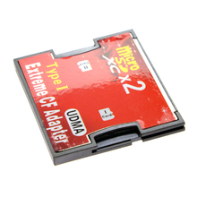 Dual Slot TF or MicroSD Micro SD to Type I Compact Flash Card CF Reader Adapter for Nikon Cannon Carema(China)