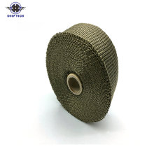 5m X 50mm Titanium Thermal Exhaust Header Pipe Heat Wrap With Steel Ties Kit(China)