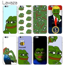 Lavaza the frog meme Hard Transparent Cover Case for iPhone X 10 8 7 6 6S Plus 5 5S SE 5C 4 4S(China)