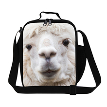 Dispalang Personalized Cute Alpaca Kids Cooler Lunch Bags Womens Mini Insulated Lunch Box For Working Thermal Food Picnic Bag