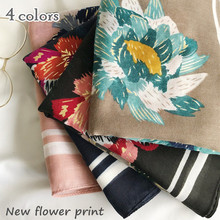 Hot sale winter cotton scarf oil painting style flowers muffler lmuslim hijab shawl popular scarves lady pashmina wrap foulard